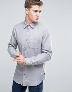 Джинсовая классическая рубашка с карманом Jack & Jones Originals - Серый