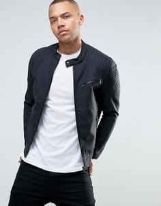 Байкерская куртка из кожзаменителя Esprit - Черный