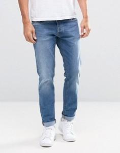 Узкие эластичные джинсы Jack & Jones Intelligence - Синий