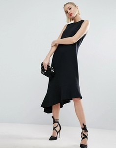 Платье миди асимметричной длины ASOS - Черный