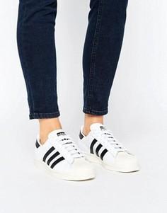 Кроссовки в стиле 80-х adidas Superstars - Белый