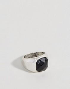 Серебряное кольцо-печатка Icon Brand Driggs - Серебряный