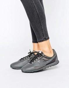 Черные кожаные кроссовки премиум-класса Nike Pre Montreal - Черный
