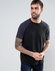 Футболка с короткими рукавами реглан YMC - Черный