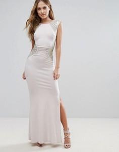 Платье-футляр макси с пайетками Lipsy - Розовый