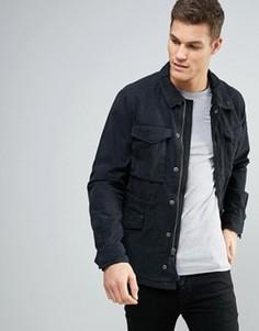 Черная куртка из саржи Abercrombie & Fitch - Черный