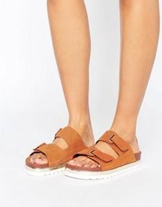 Кожаные сандалии на платформе с пряжками Vero Moda - Рыжий