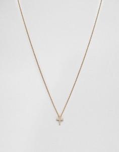 Золотистое ожерелье Mister Crucis - Золотой