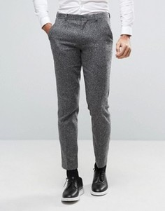 Узкие брюки из фактурной ткани ASOS - Серый