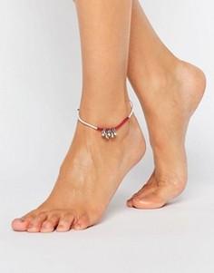 Браслет на ногу с бабочками ASOS - Мульти