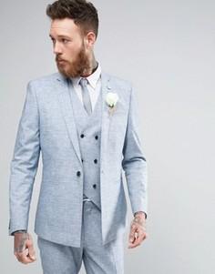 Приталенный пиджак ASOS WEDDING - Синий