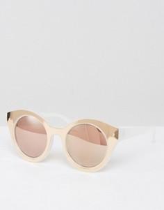 Круглые солнцезащитные очки в толстой оправе ASOS - Золотой