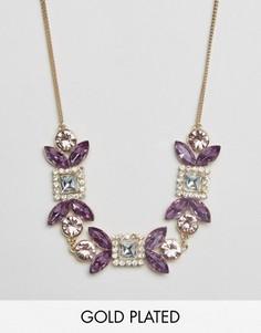 Изящное ожерелье с камнями Johnny Loves Rosie - Золотой