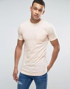 Длинная футболка с тонкую полоску Another Influence - Оранжевый