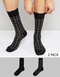 2 пары носков в клетку BOSS Black By Hugo Boss - Черный