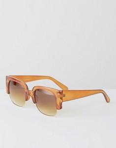 Квадратные солнцезащитные очки 7X - Оранжевый