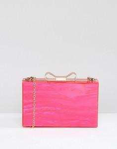 Розовый жесткий клатч Liquorish - Розовый