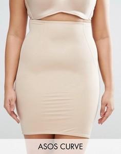 Моделирующая нижняя юбка с завышенной талией ASOS CURVE SHAPEWEAR - Бежевый