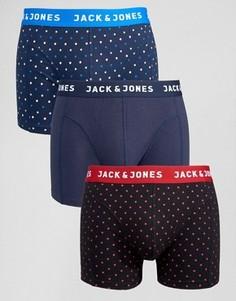 Комплект из 3 боксеров-брифов в горошек Jack & Jones - Мульти