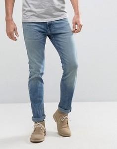 Выбеленные джинсы скинни Hollister - Синий