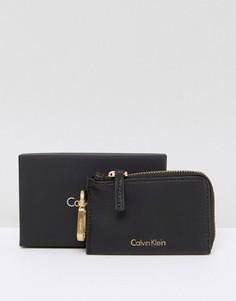 Черный кошелек для монет с брелоком для ключей Calvin Klein - Черный