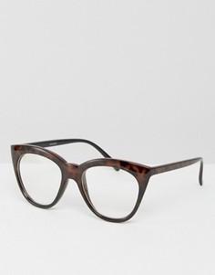 Очки кошачий глаз с прозрачными стеклами ASOS - Коричневый