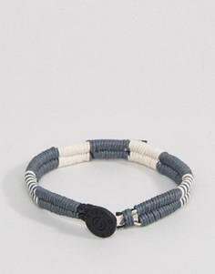 Серый двойной плетеный браслет Icon Brand - Серый