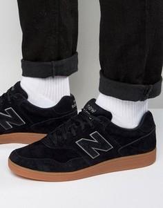 Черные замшевые кроссовки New Balance CT288BL - Черный