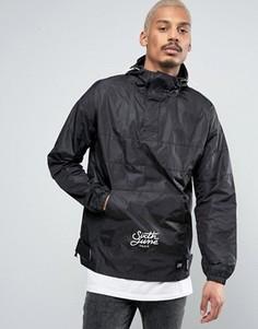 Куртка-дождевик через голову с капюшоном Sixth June - Черный