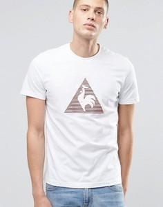 Жаккардовая футболка с геометрическим узором Le Coq Sportif - Белый