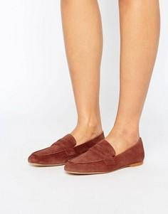 Мягкие кожаные лоферы Vero Moda - Рыжий