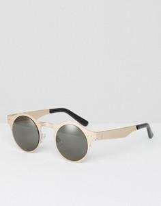 Серебристо-черные круглые солнцезащитные очки Spitfire - Серебряный