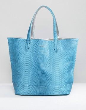 Двусторонняя сумка-шоппер Pauls Boutique - Синий