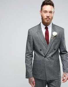 Фактурный приталенный двубортный пиджак ASOS WEDDING - Мульти