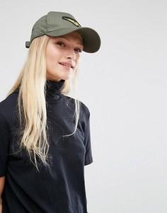 Кепка с нашивкой в стиле милитари New Look - Серый