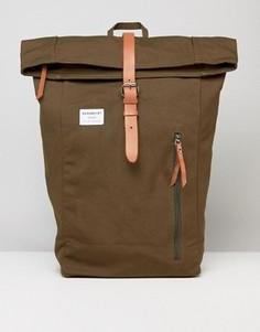 Оливковый рюкзак ролл-топ Sandqvist Dante - Зеленый