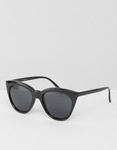 Солнцезащитные очки кошачий глаз ASOS - Черный