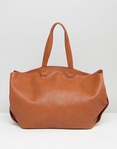 Большая сумка на плечо Yoki - Коричневый