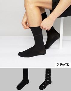 2 пары носков в горошек BOSS Black By Hugo Boss - Черный