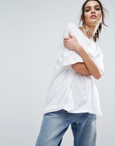 Oversize-футболка ASOS - Белый