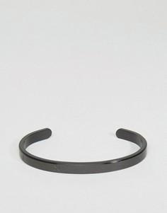 Черный браслет-манжета Mister Roman - Черный