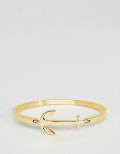 Золотистый браслет с якорем Mister - Золотой