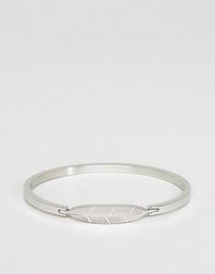 Серебристый браслет с пером Mister - Серебряный