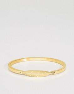 Золотистый браслет с подвеской-перышком Mister Axle - Золотой
