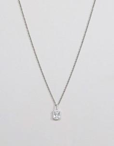 Серебристое ожерелье с камнем Mister Royalist - Серебряный