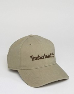 Бежевая бейсболка с логотипом Timberland - Бежевый