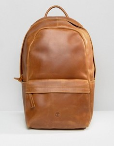 Коричневый кожаный рюкзак Timberland - Коричневый