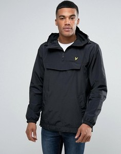 Черная куртка через голову с капюшоном и логотипом-орлом Lyle & Scott - Черный