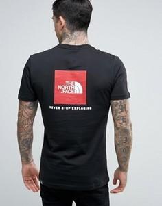 Черная футболка с логотипом сзади The North Face Red Box - Черный