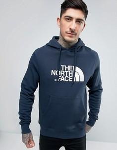 Темно-синий худи с большим логотипом The North Face Drew Peak - Темно-синий